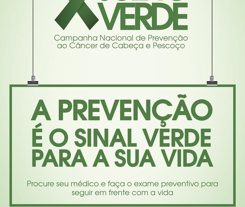 Campanha Julho Verde alerta para a prevenção do câncer de cabela e pescoço