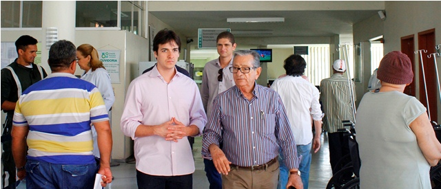 Visita do Dep. Federal Pedro Cunha Lima ao Hospital Napoleão Laureano