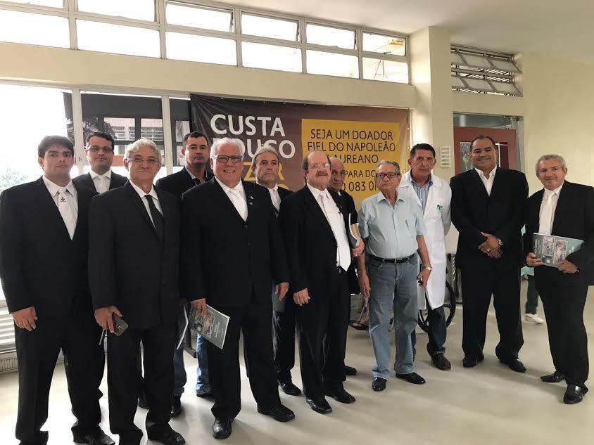 Loja Maçônica Estrela D'alva  2921 visita o Hospital Napoleão Laureano