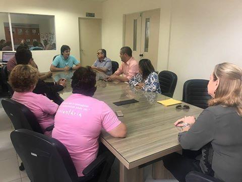 Visita do Deputado Federal Pedro Cunha Lima e da Vereadora Helena Holanda