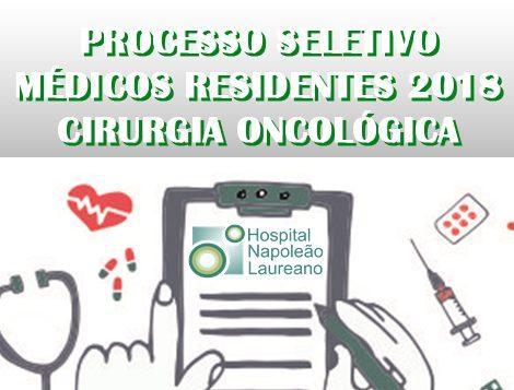 Edital para prova de Residência Médica em Cirurgia Oncológica 2018