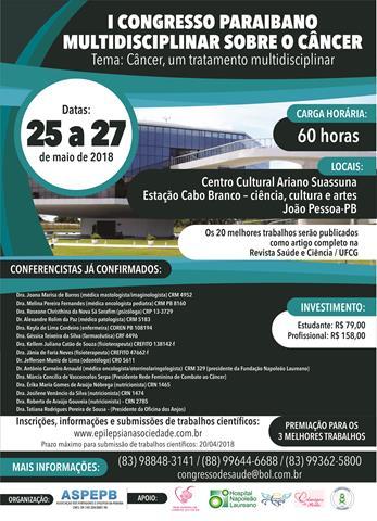 I Congresso Paraibano Multidisciplinar Sobre o Câncer