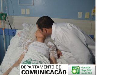 Jovem Sousense internada com Câncer Casou-se no Hospital Napoleão Laureano