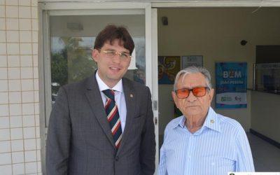 Diretores da Fundação/Hospital Napoleão Laureano recebem o Vereador Milanez Neto