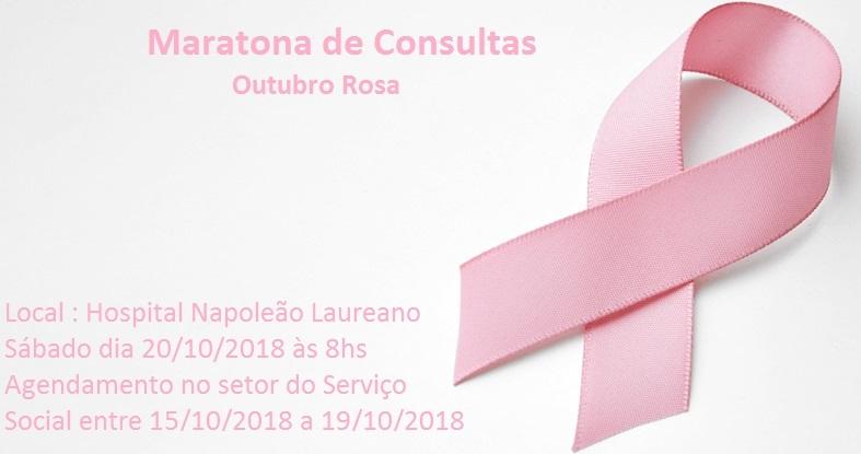 Outubro Rosa – Dia D – Maratona de Consultas