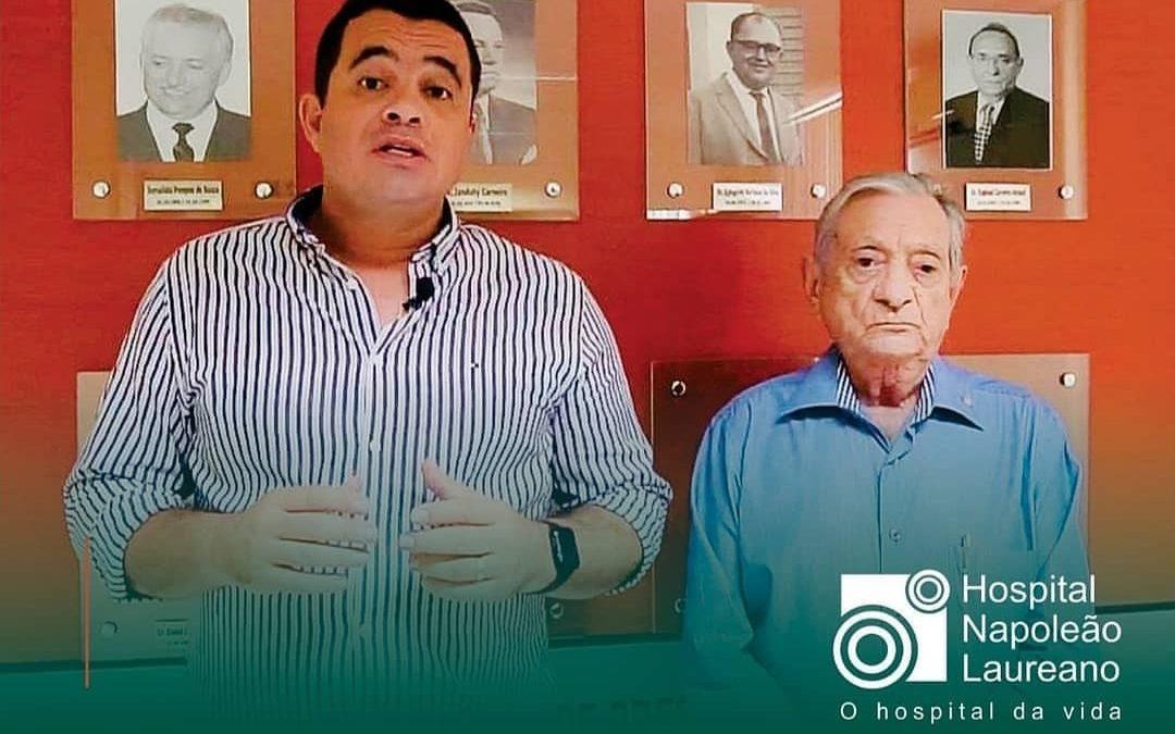 Onda de solidariedade cresce Prefeitura de Cruz do Espírito Santo assina convênio com Hospital Napoleão Laureano