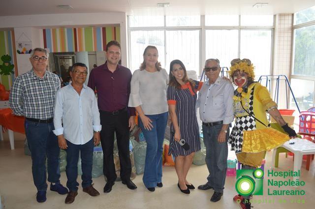 Solidariedade Pediatria do Hospital Napoleão Laureano recebe doações do programa Mulher D+