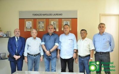 Prefeito de Alhandra Renato Mendes assina convênio com  Hospital Napoleão Laureano