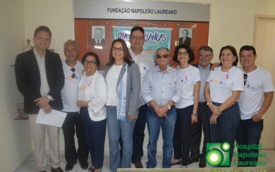 Representantes do Rotary Clube estiveram no Hospital Napoleão Laureano