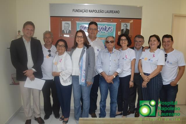 Representantes do Rotary Clube estiveram no Hospital Napoleão Laureano