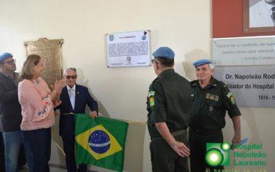 Fundação Napoleão Laureano foi homenageada pela Associação dos Integrantes do Batalhão de Suez.