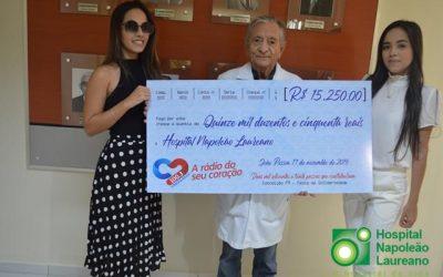 Rádio e ex-prefeito de Conceição promovem evento e arrecadam mais de R$ 15 mil para Hospital Napoleão Laureano