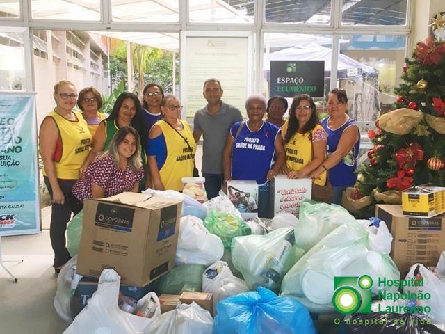 Grupo faz campanha durante 30 dias para arrecadar descartáveis para o Laureano