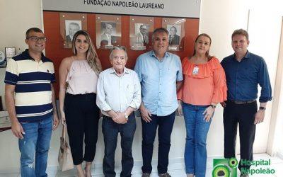 Prefeito de Areial visita Laureano e reitera compromisso com o Hospital