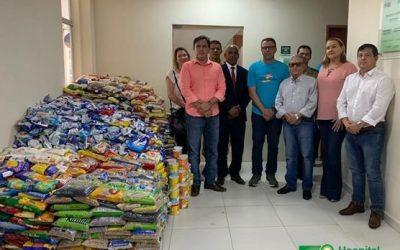 Hospital Laureano recebe cerca de duas toneladas de alimentos arrecadados na Corrida Pela Paz