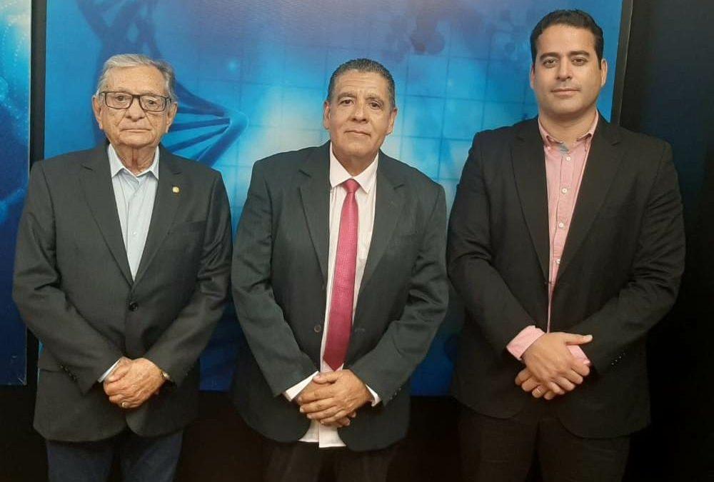 Foram entrevistados Dr. Carneiro Arnaud, Presidente da Fundação Laureano e Dr Thiago Lins diretor Geral do Hospital