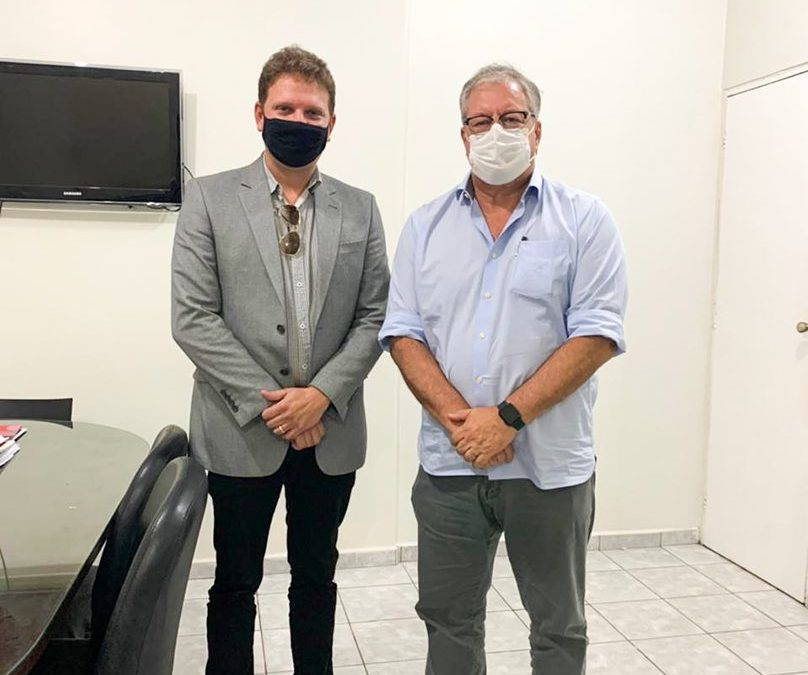 Presidente da Fundação Laureano visita secretário municipal de Saúde
