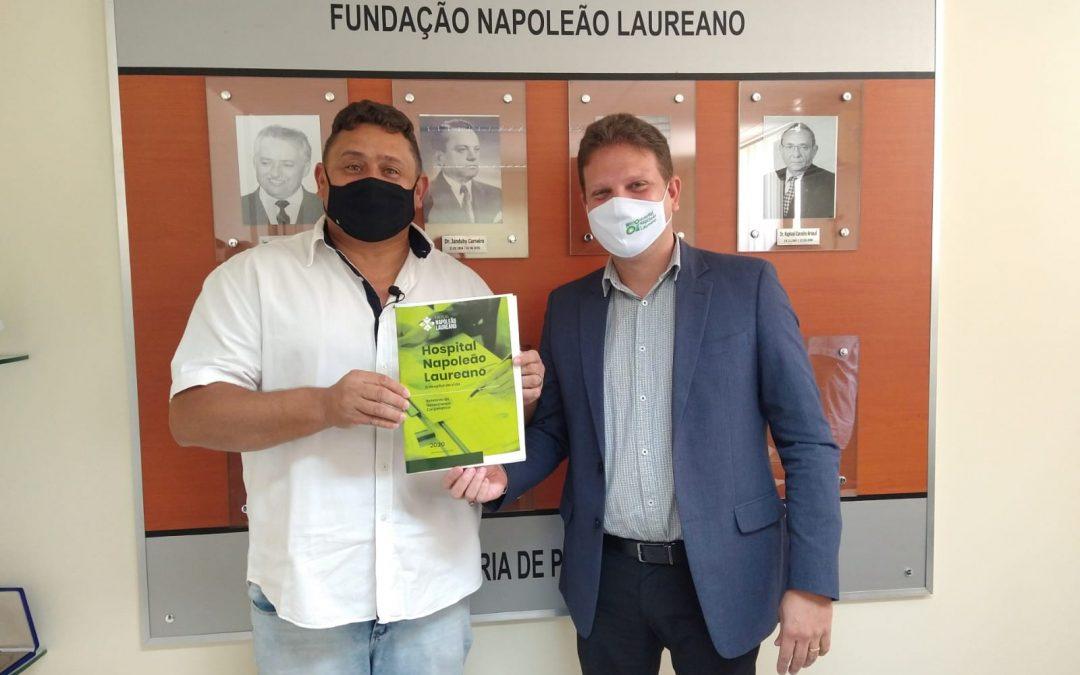 Deputado Wallber Virgolino visita HNL